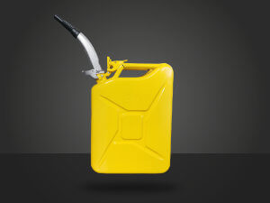 jerry can yellow metal 20 liters